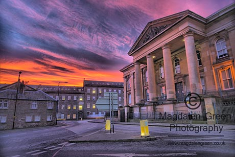 Gorgeous Night Sky Backdrop against Dundee Sheriff Court - Dundee Scotland