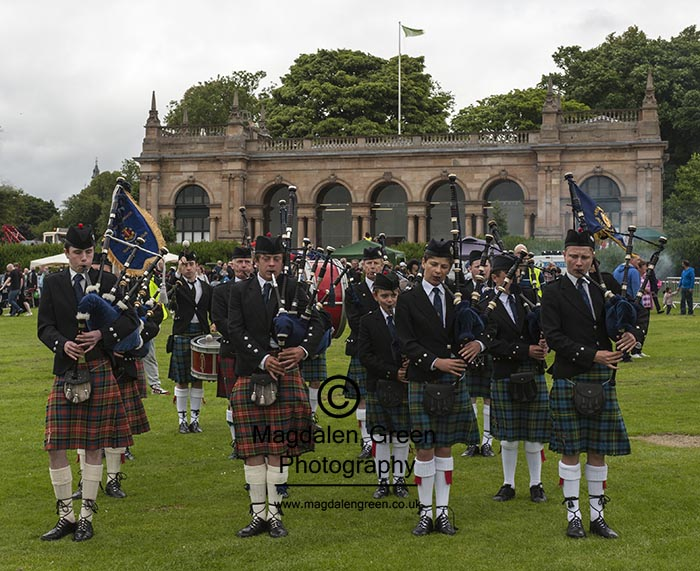 Pipe Band in Action  at Celebration in the Park - Baxter Park  -
