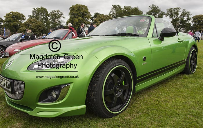 Image of Cool Green Car - at Celebration in the Park - Baxter Park - Dundee Scotland