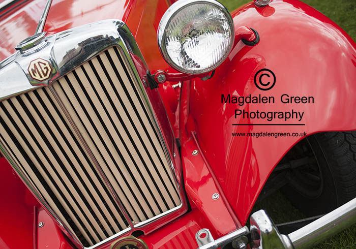 Red MG Car Close up  - at Celebration in the Park - Baxter Park