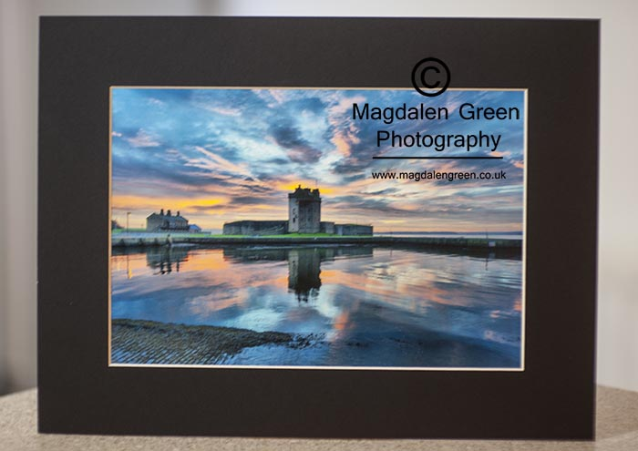 mage of Broughty Ferry Castle Mounted Print