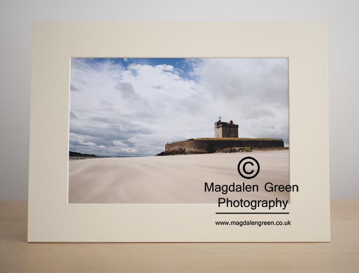 Broughty Ferry Castle and Beach  A4 Print