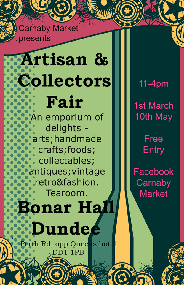 Carnaby Artisan and Collectors Fair March 1st poster