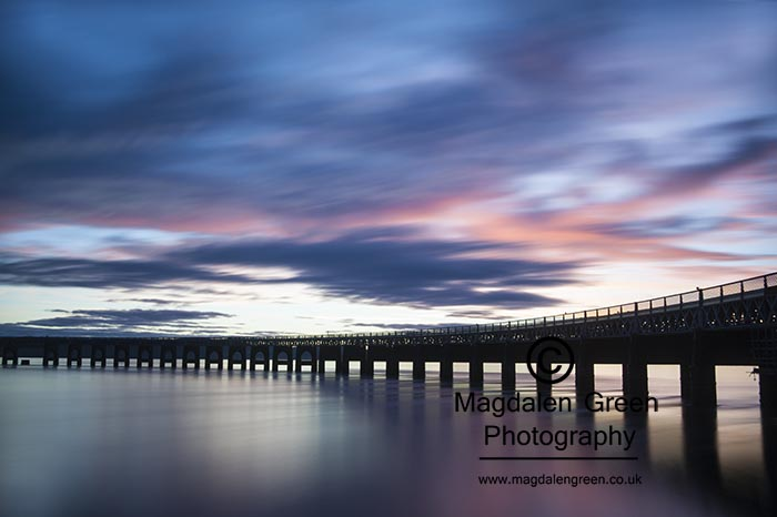 Image of the Tay Rail Bridge Dundee Scotland