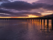 Image of Gorgeous Light over Tay rail Bridge on Christmas Eve