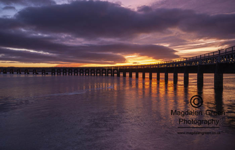 Gorgeous Light over Tay rail Bridge on Christmas Eve
