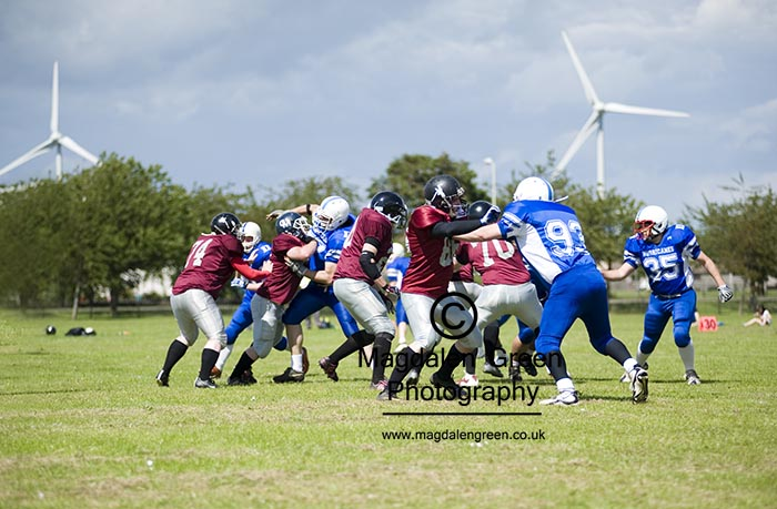 Dundee Hurricanes American Football Team in Action