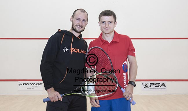 Edinburgh Sports Club - Gregory Gaultier Exhibition Day  - 6th August 2016 - I was delighted to be the official photographer for the visit of World Squash Champion Gregory Gaultier  - great squash on display by Gregory and his opponent Alan Clyne