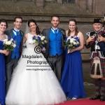 Bride in her Dress - Harrop Wedding - Dundee- August 2014