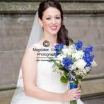 Bride with Boquet - Harrop Wedding - Dundee- August 2014