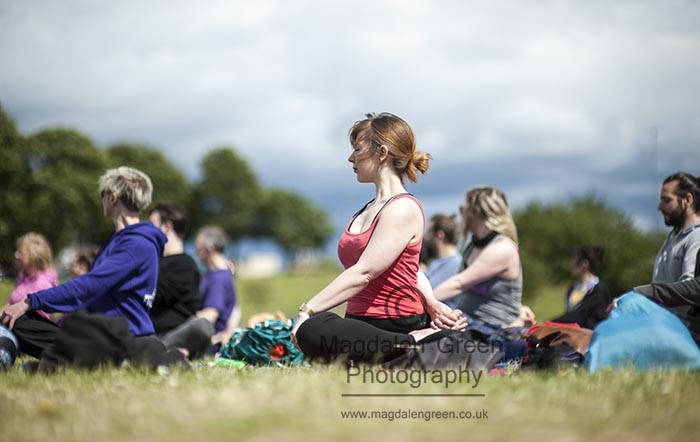 Image from International Yoga Day - Heart Space at Magdalen Green - Dundee Scotland