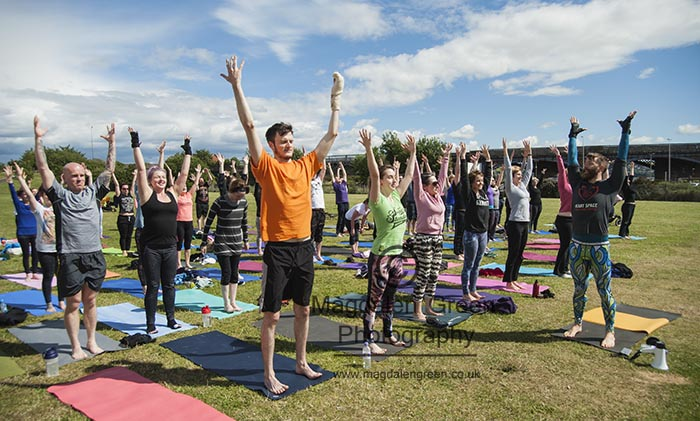 International Yoga Day  - Heart Space at Magdalen Green - Dundee