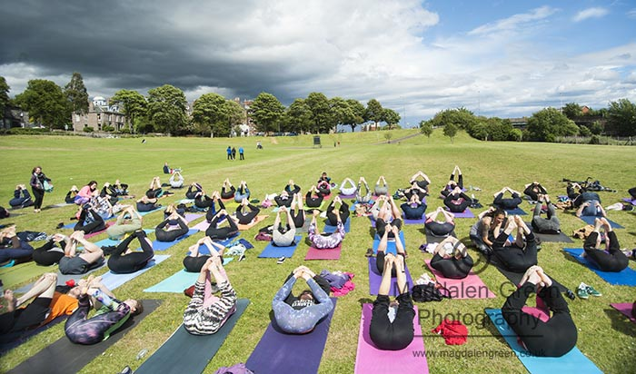 Image from International Yoga Day - Heart Space at Magdalen Green - Dundee