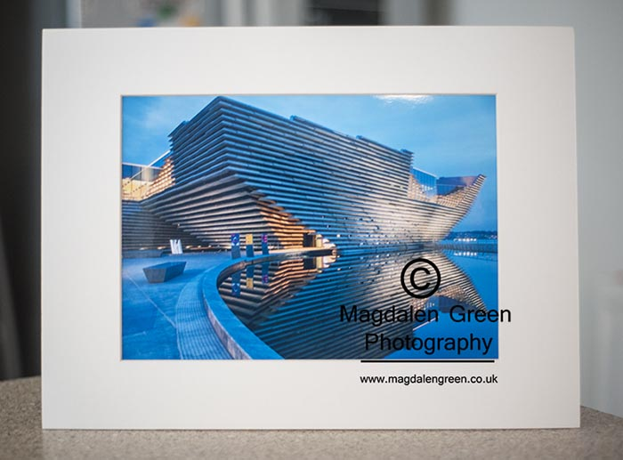 Magdalen Green Photography – Print of the Month – August 2019 – MG-A4P-066 V and A Museum of Design Dundee Mounted Print – night time long exposure – love this view – perfect gift / Christmas gift ( or to treat your self ) – if you would like one – get in touch …..