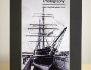 Black and White Dundee Print of RRS Discovery