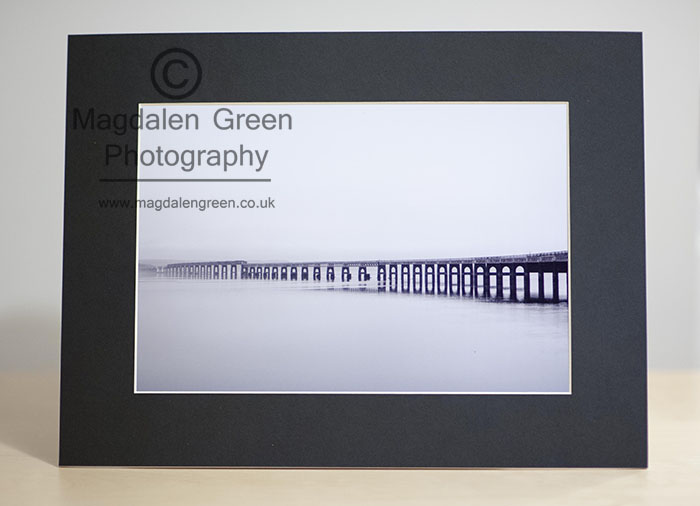 Black and White Print of Tay Rail Bridge Dundee