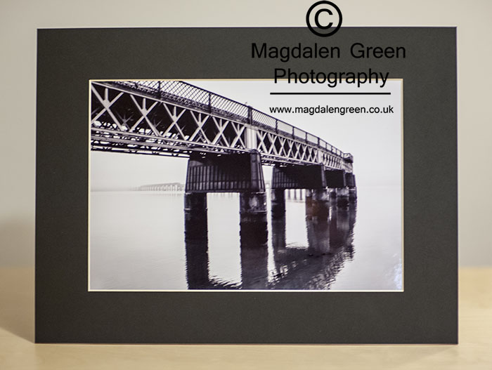 Black and White Print of Tay Rail Bridge Dundee for sale