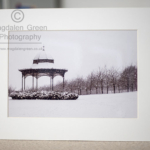 Black and White Print of Magdalen Green Bandstand for sale
