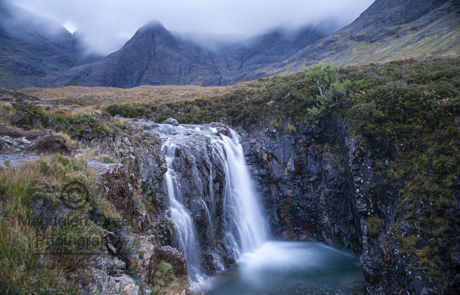 Fairy Pool and Cuillin Mountains - Magical Landscape -Isle of Sk