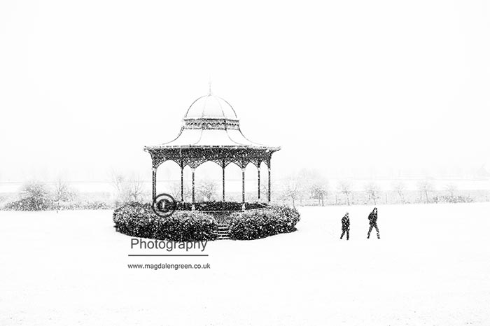Image of Winter Scene Magdalen Green Bandstand
