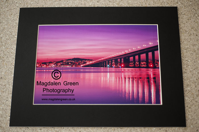 Tay Road Bridge – A4 Mounted Print August 2018