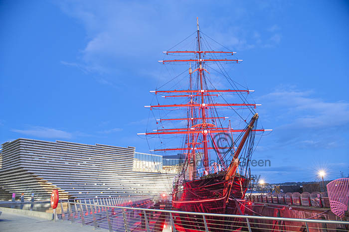 RRS Discovery and V and A Dundee looking Magnificent at Blue Hour - Dundee Scotland