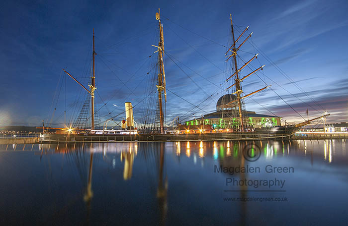 Image of RRS Discovery at Dundee Waterfront - Long Exposure
