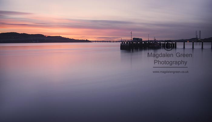Image of Sunset over the River Tay and Dundee City  - Dundee Scotland