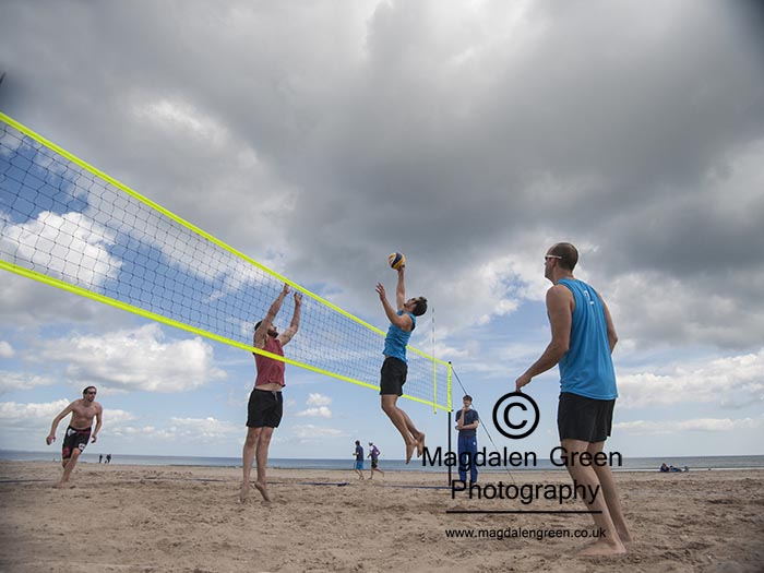 Beach Volleyball  - West Sands  - St Andrews Fife Scotland