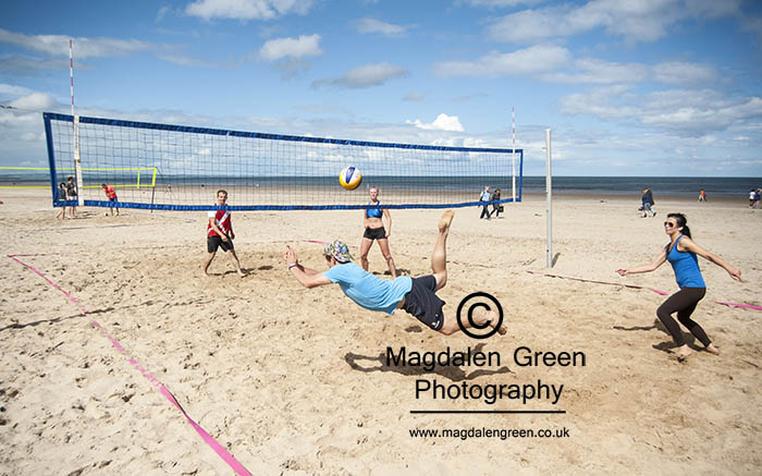 Great Effort ! Beach Volleyball  - West Sands  - St Andrews Fife